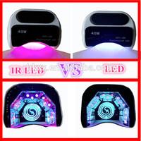 Wholesale Professional IR Sensor V W LED UV Lamp Nail Dryer Very Fast Curing Nail Tools