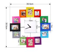 aperture photo frame - Listed in Stock cm in New Multi Photo Aperture Frame Wall Clock Modern Family Picture COLLAGE Gift wc1341