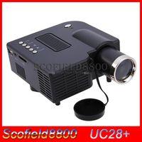 Wholesale mini proyector UC28 uc28 P HD LM K portable pico led mini HDMI video game projector digital pocket home mini projetor for quot