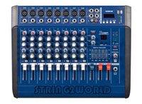 amplifiers and mixers - PMX802D Mixing Console channel with USB MP3 and LED display Audio DJ Mixer built in POWER AMPLIFIER W W for live stage
