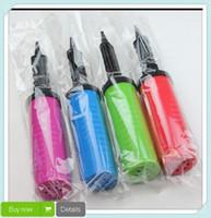 ball pump needle - 20PC Mini Plastic Hand Soccer Needle Ball Party Balloon Inflator Air Pump NEW Drop Shipping