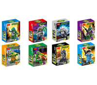 abs turtles - Blocks Puzzles Birthday Gifts Teenage Mutant Ninja Turtles Plastic Toys With The Skateboard Weapons ABS Action Figures Bricks Blocks M2230