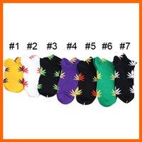 Cheap hot huf socks plantlife leafs socks streetwear Stockings Fashion men&women cotton hemp leaf Socks sport cotton socks 7 colors 1804001