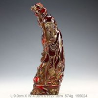 oriental statues - Oriental Vintage Amber Hand Carved Immortal Statue