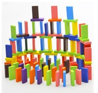 domino game set - domino games Wooden toys educational toys color dominos domino set tablets