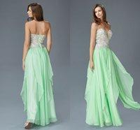 Partido colorido verde Prom vestidos largos amor de la gasa atractiva de espalda abierta con cordones de los vestidos de boda vestido de la celebridad de la alfombra roja del vestido del desfile del vestido