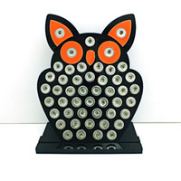 metal jewelry stand - New Arrival mm Smaller Snap Button Display Stands Fashion Owl Black Acrylic Interchangeable Button Jewelry Display Board