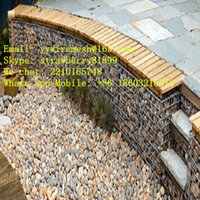 Wholesale Cobblestone Gabion Box With One Diaphragm In The Middle Wire Diameter mm and Opening mm Leisure