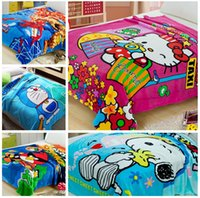 Wholesale Hot selling New cm spiderman styles baby children coral fleece blanket air condition sofa cartoon blanket LJJD613