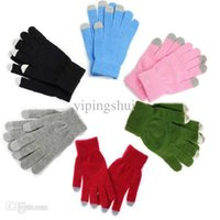 Wholesale fashion Winter Unisex men women Touch Screen Stretchy Soft Warm Winter Wool Gloves Mittens for Mobile Phone Tablet Pad