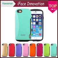 apples innovation - iFace Innovation with Credit Card Holder TPU PC Hybrid for iPhone quot Plus quot Samsung Galaxy Note S4 S5 Candy Color Phone Cover