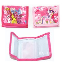 Wholesale My Little Pony Cartoon Children Coin Purse Wallet BRAND NEW Children Christmas Gift Kids Birthday Gifts
