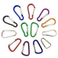 aluminum carabiner - 5 Carabiners Keyrings Key Chains Sport Carabiner Camp Snap Clip Hook Keychain Hiking Aluminum Convenient Hiking Camping Clip On Keychain