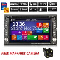 Wholesale New universal Car Radio Double Din Car DVD Player GPS Navigation In dash Car PC Stereo Head Unit video Free Map subwoofer