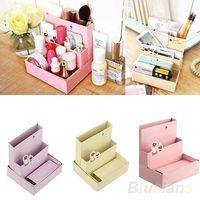 Cheap Foldable Mini DIY Paper Board Storage Desk Decor Stationery Organizer Makeup Cosmetic Box Hot Sale 02IA 3BNA