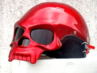 Wholesale Masei Skull DOT Fiberglass Motorcycle Helmet Bike Open Face Helmets