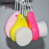 Wholesale Soft Mild Fiber Face Clean Deep Cleansing Wash Pore Facial Care Brush Wood UR