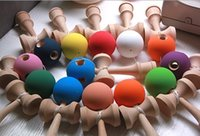 Wholesale Kendama Kids Girls Boys Children Toys Wooden crack Technique Funny Japanese Traditional Wood Game Toy Kendama Ball Education Gift D4448