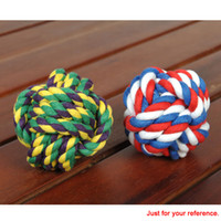ball safe - Fashion Multicolor Small Pet Rope Ball Dog Chew Toy Toxic Free Puppy Safe Entertained Rope Toy Multi Knots Rope Ball for Pet H15706