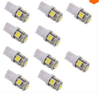 acura brake light - 100PCS T10 SMD Xenon LED Light bulbs W5W LED White Car Side Wedge Tail Light Lamp price