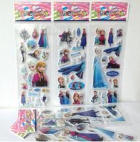Wholesale Cheap Sheets Frozen Design Kids Cute PVC Puffy Stickers D Stickers Cartoon Craft Scrapbook Stickers
