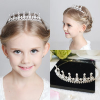 Wholesale Kids Girls Glitter Rhinestone Twinkle Princess Crown Tiara Headband Hair band FLower Girl Wedding Birthday Evening Party