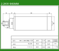 air bearing spindles - Tax to Russia Air Cooled spindle motor mm KW spindle P4 bearing cnc spindle motor
