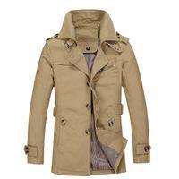 Wholesale Fall UWBACK New Brand Trench Coat Men Plus Size Windbreak Bussiness Outcoat Trench Coat Man XL Outwear Women Jackets TA010