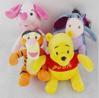 big pooh - Retail cm Winnie The Pooh Plush Dolls Toy Cartoon Animal Pooh Bear Piglet Pig Tigger Tiger Eeyore Donkey Stuffed Toys For Children Gifts