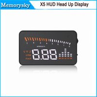 alarm for car - x5 HUD head up display inch with hud obd2 obdii interface for Universal Car alarm security system in stock