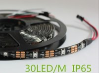 Wholesale RGB Pixel Light m WS2812B Smart led pixel strip Black White PCB leds M DC12V ip65 Waterproof