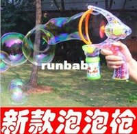 Cheap New king-size automatic music bubble gun bubble machine electric toys
