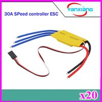 Wholesale 20pcs A ESC Brushless Motor Speed Controller Control For RC Helicopter airplane ZY DJI A