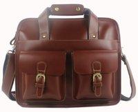 Wholesale Fashion High Class Men Tote Brown Crazy Horse Cowhide Real Leather Shoulder Bag Messenger Bag laptop Bag Briefcase