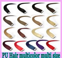 Wholesale NEW set Remy human hair Weave PU Skin Weft Tape hair extensions inch Brazilian malaysian indian High quality