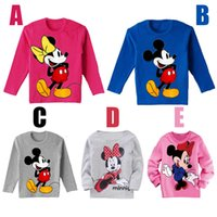 Wholesale Retail fashion baby boys gilrs cartoon mickey minnie mouse long sleeve t shirt kids casual top children s cotton clothing coat