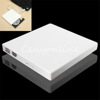 Wholesale Lowest Price New Pure White Universal Thin USB External Combo Optical Drive CD DVD Player CD Burner for PC Laptop Desktop