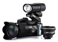 hd digital camera - 2015 New Polo Sharpshots MP D3300 Digital Camera HD Camcorder DSLR Camera Wide Angle Lens x Telephoto Lens Travel Suit Version Free