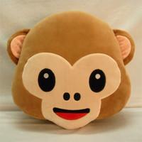 red monkey - 2016 New cm arrival Hot New Hot monkey emoji pillows Cushion Cartoon plush toy E446