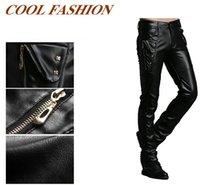 Wholesale Trendy Faux Fur Pants for Men Skinny Dress Pants Zipper Fly Mid Waist Fashion Straight Pants with Button XXK