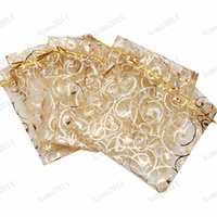 Wholesale hot selling Champagne Pouch Gift Candy Jerellry Packaging Drawable Bags Wedding Party Favor