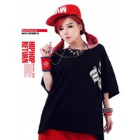 Cheap 2015 new Punk rock source wind hip-hop clothing printing loose T-shirt men's women's performance freeshipping tops tees short