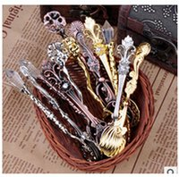 Wholesale 9pcs Fashion accessories Creative Kitchen vintage lroyal wind spoon gold and silver coffee spoon tea spoon ice cream spoon