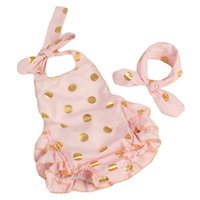 baby bodysuit winter - 2016 Fashion baby girls baby clothes bodysuit romper gold dots fashion bubble rompers set