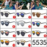 Wholesale Ha Leina cat SO REAL models sunglasses men and women reported paragraph Shihai color film reflective mirror sunglasses