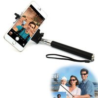 audio tech - SY Tech Monopod Audio Cable Wired Selfie Stick Extendable Sefie shutter for iPhone plus s s IOS Samsung Android