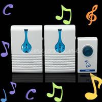 Wholesale Waterproof Portable Dual Twin Digital LED Wireless Remote Control Doorbell Door Bell Gate Door Cordless Chime Song M Range order lt no