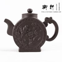 authentic hand bags - Authentic old famous yixing purple clay by hand are recommended the teapot cup kung fu tea set suits the magpies harbinger pot bag mail