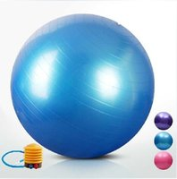 balance ball pump - 75cm Yoga BALL HOME GYM EXERCISE BALANCE PILATES EQUIPMENT FITNESS BALL colors to select air pump