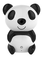 Wholesale 2015 Cartoon style Panda HD IP camera Burglar Alarm for Household Store HD Pan Tilt WIFI Alarm System Mini Security CCTV home Alarm